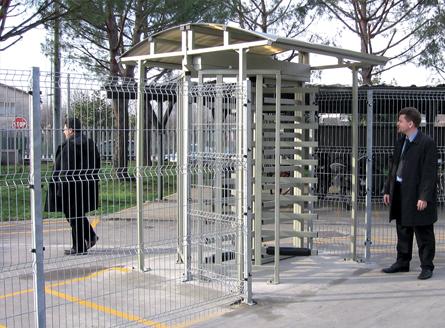 Пример расчета оборудования для проходной предприятия численностью до 1000 человек