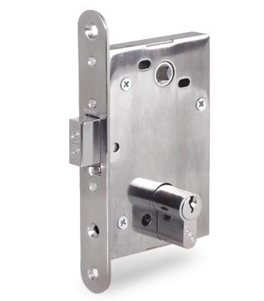 Врезной электромеханический замок PERCo-LC72 для внутренних и наружных дверей